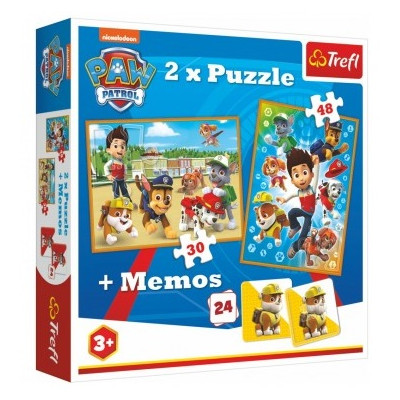 Trefl Puzzle 2v1 Tlapková patrola 30, 48 dílků + pexeso