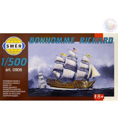 Směr Model loď Bonhomme Richard 12,3x15cm