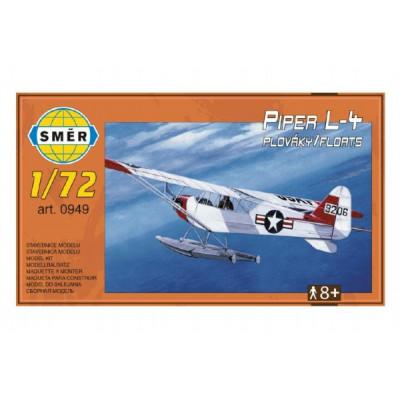 Směr Model letadlo Piper L-4 plováky 1:72 14,7x9,3cm