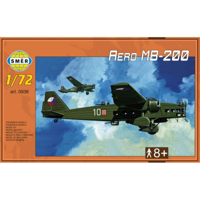 Směr Model letadlo Aero MB-200 1:72 22,3x31,2cm