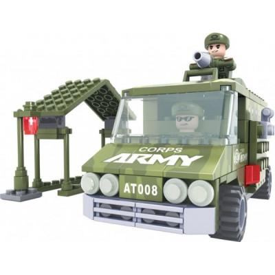 Stavebnice Dromader 22407 Vojáci Auto 166ks