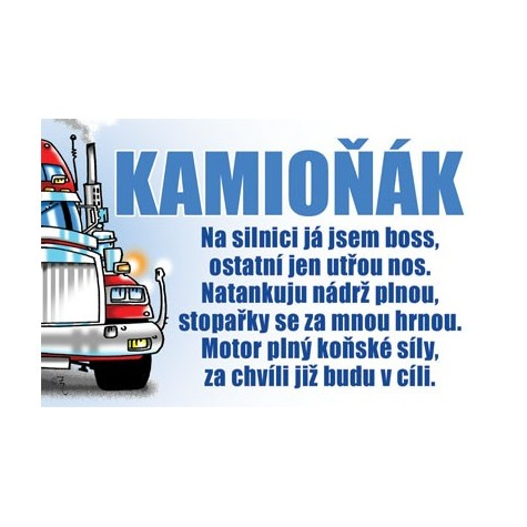 Průkaz - Kamioňák