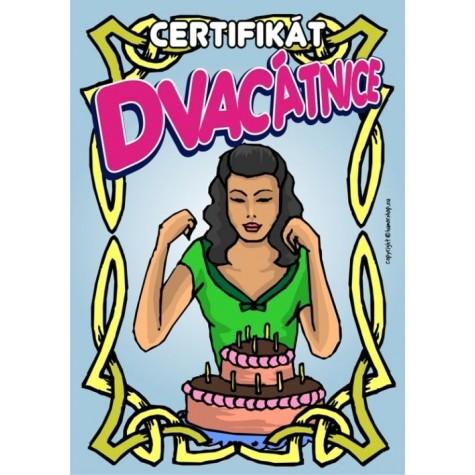 Certifikát dvacátnice 20