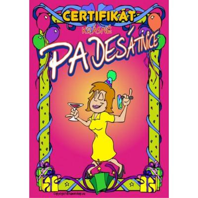 Certifikát krásné padesátnice 50