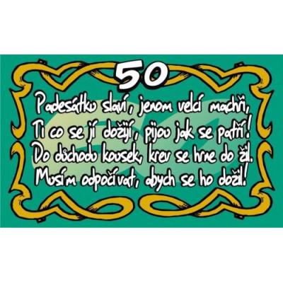 Průkaz - Padesátku slaví jenom velcí machři 50