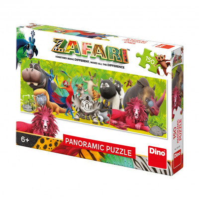 Dino Zafari: Přátelství panoramic puzzle 150 dílků
