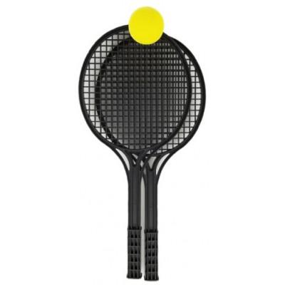 Sada na soft tenis plastová černá 53cm + míček