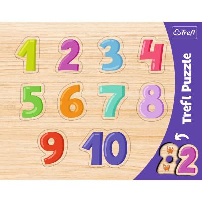 Trefl Vkládačka/Puzzle obrysové čísla 10 dílků