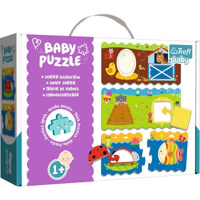Trefl Puzzle baby Tvary 3v1 2 dílky 1+