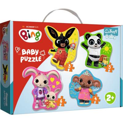 Trefl Puzzle baby Bing Bunny a přátelé 4v1 3, 4, 5, 6 dílků