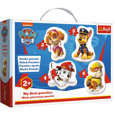 Trefl Puzzle baby Tlapková patrola 4v1 3, 4, 5, 6 dílků