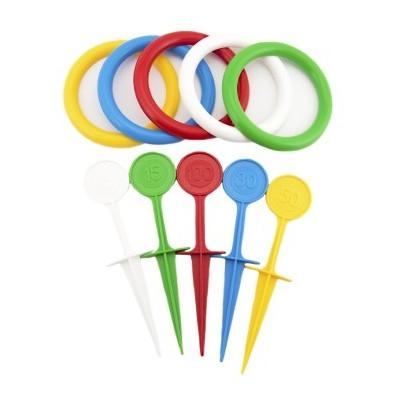 Hra házecí kroužky a kolíky barevné plast 22cm