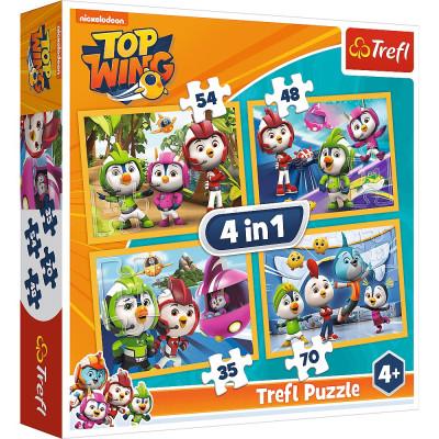 Trefl Puzzle 4v1 Top Wing 35, 48, 54, 70 dílků
