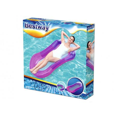Bestway 43103 Nafukovací lehátko Aqua Lounge 160 x 84 cm - fialové