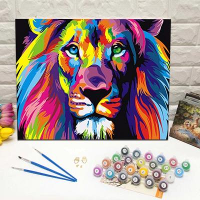Malování podle čísel - lev