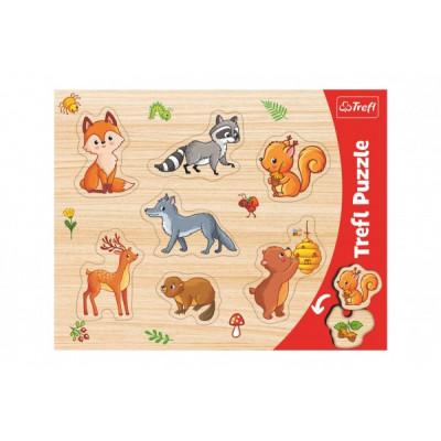 Trefl Vkládačka/Puzzle deskové obrysové lesní zvířátka