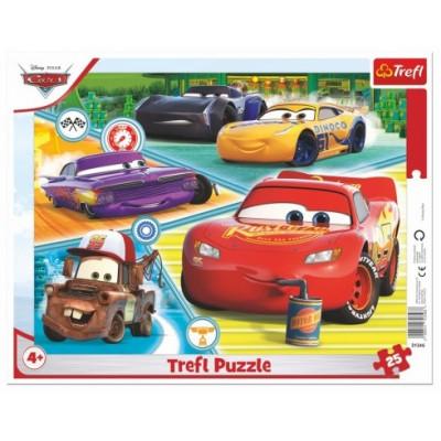Trefl Puzzle deskové Auta 3/Cars 3/Dobrý tým 25 dílků