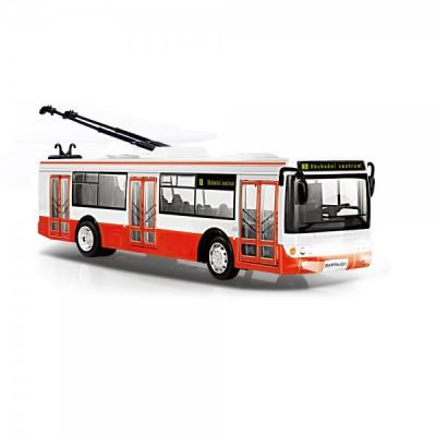 Rappa Trolejbus česky hlásící zastávky 29cm červený