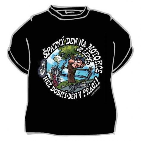 Tričko - Špatný den na motorce - černé