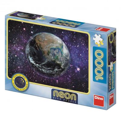 Dino Planeta Země neon puzzle 1000 dílků