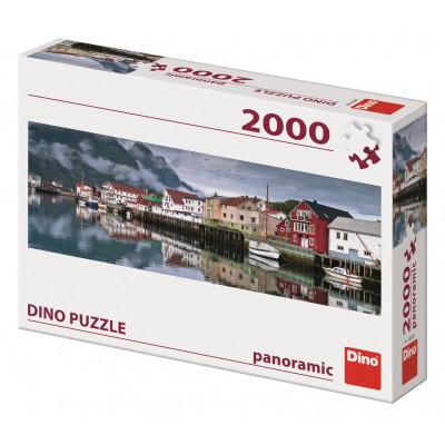Dino Rybářská vesnice panoramic puzzle 2000 dílků