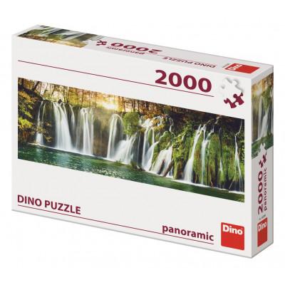 Dino Plitvické vodopády panoramic puzzle 2000 dílků