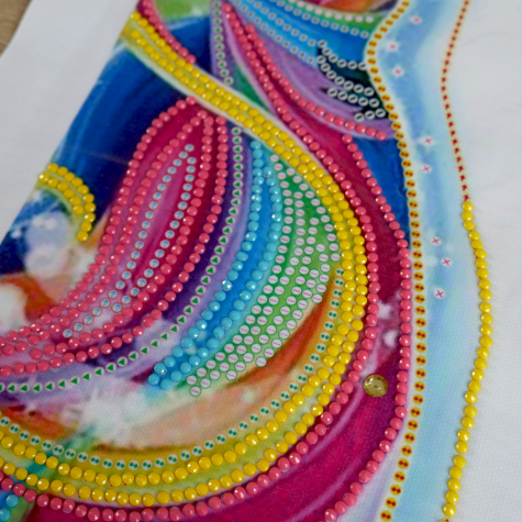 Diamantové malování deluxe - jednorožec