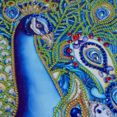 Diamantové malování deluxe - páv