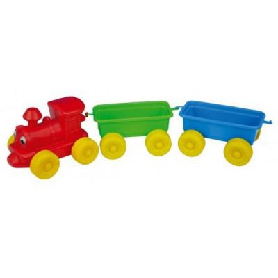 Vláček + 2 vagónky plastový 60cm