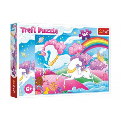 Trefl Puzzle Cválající jednorožci 160 dílků