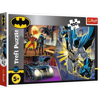 Trefl Puzzle Nebojácný Batman 100 dílků