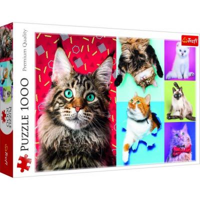Trefl Puzzle Šťastné kočky 1000 dílků