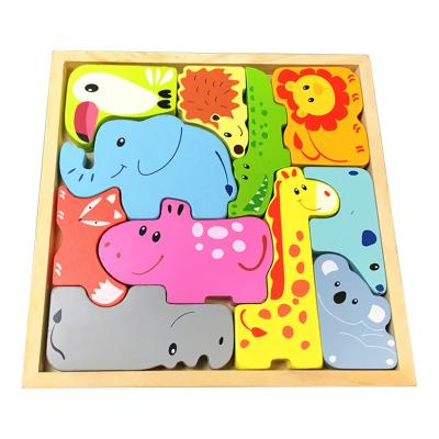 Dřevěné puzzle - zvířátka