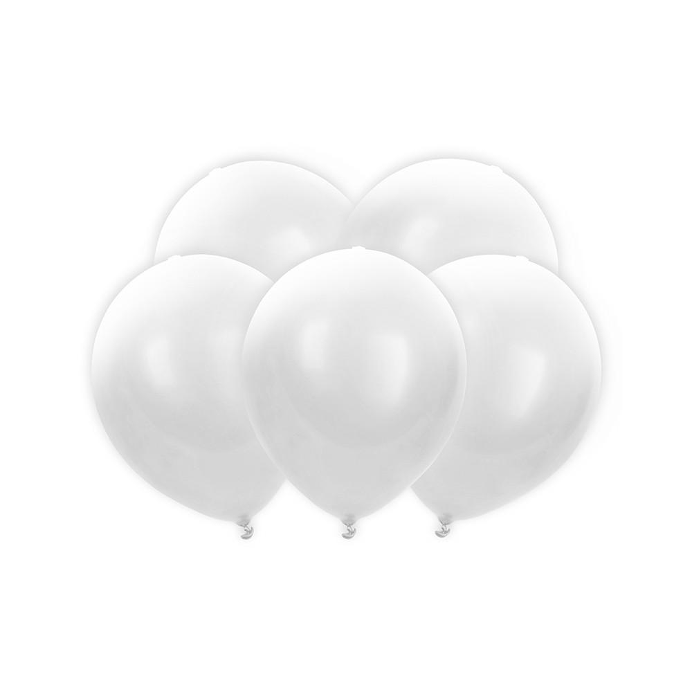 Svítící LED balónky 5 ks - bílé
