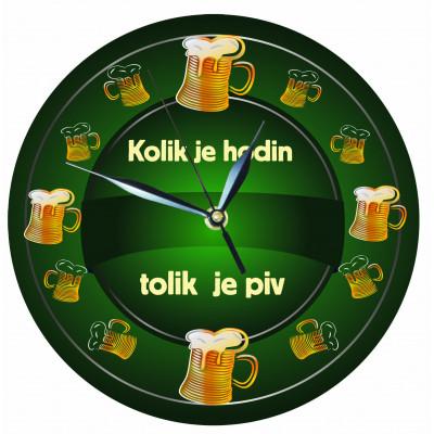 Dřevěné hodiny 24 cm - Piva