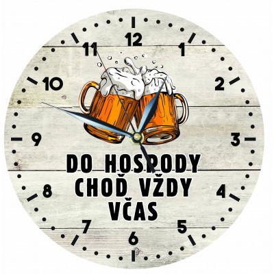 Dřevěné hodiny 24 cm - Hospoda