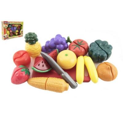 Krájecí ovoce a zelenina 40x27x6cm s nádobím plast 25ks