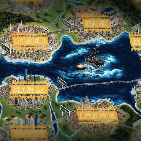 Stírací mapa CityBreak speciál