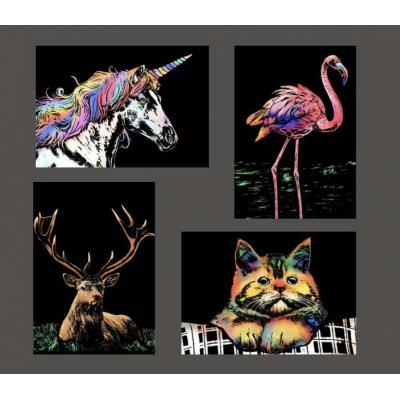 Stírací obraz - magická zvířátka