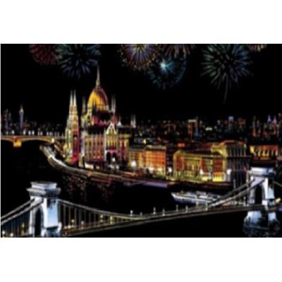 Stírací obraz - Budapešť