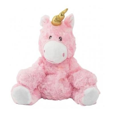 Jednorožec/kůň růžový nahřívací plyš 25cm