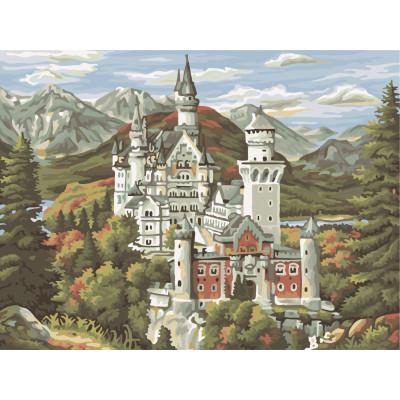 Malování podle čísel - zámek