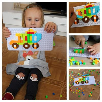 Mozaiková stavebnice - auta