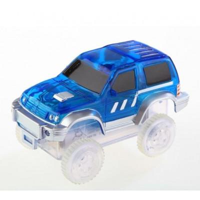 Autíčko k svítící autodráze - modré