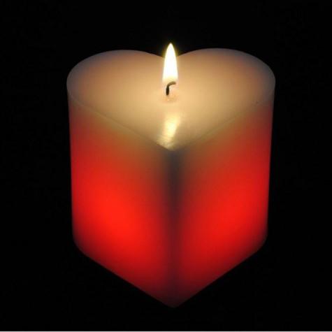 Kouzelná svíčka - srdce