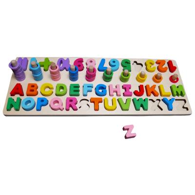 Dřevěná abeceda s čísly