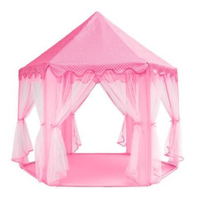 Dětský stan zámek 140cm růžový