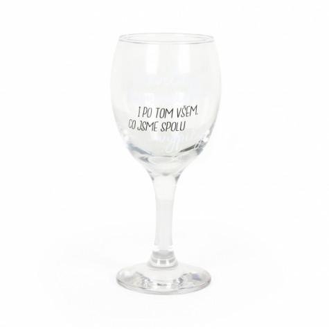 Sklenička na víno - Skvělá kamarádka