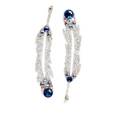 SO.nia BareSkin šperk Swarovski - Pírka - modrá