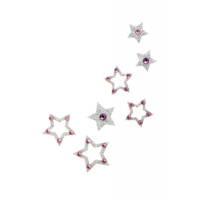 SO.nia BareSkin šperk Swarowski - Hvězdičky - růžová